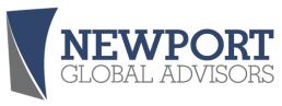 Newport Global Advisors Logo, blue and grey